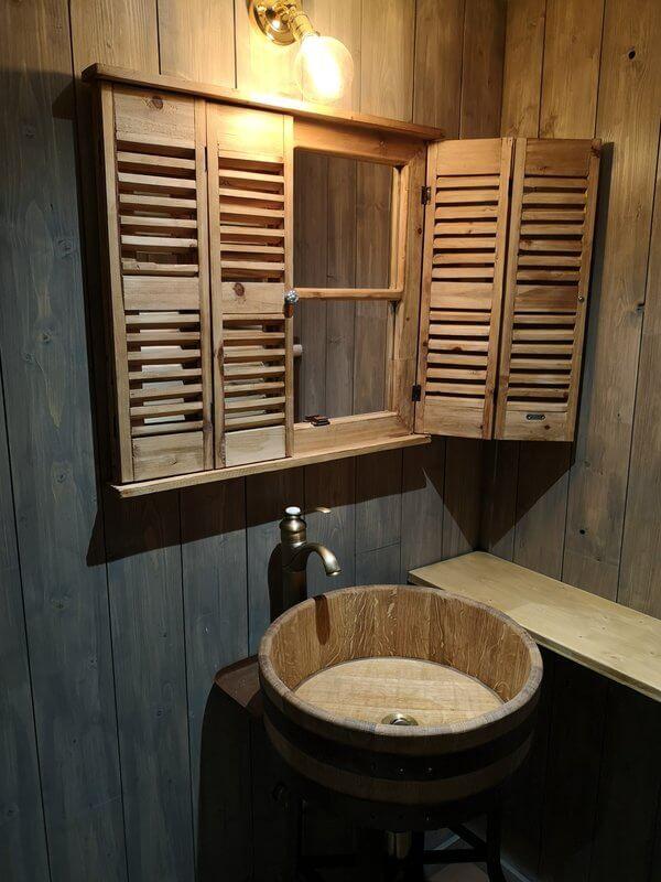 vasque en chêne